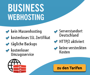 Business Webhosting für Geschäftskunden